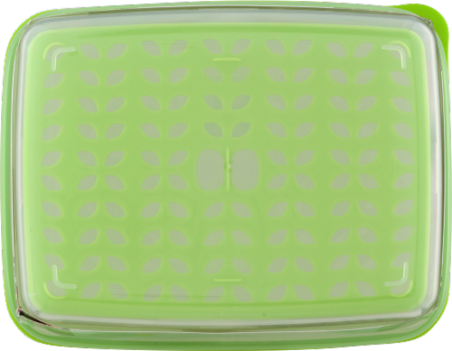 Rubbermaid Fresh Works Produce Saver Food Container - Clear/Green Perspective: top
