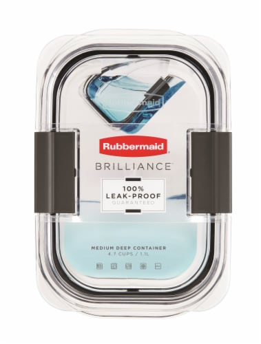 Rubbermaid Brilliance Leak-Proof Food Storage Container - Clear Perspective: top