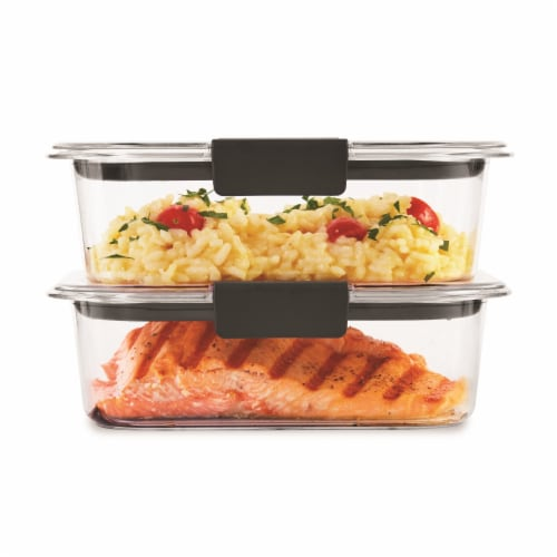 Rubbermaid Brilliance Medium Containers - 2 Pack - Clear Perspective: top