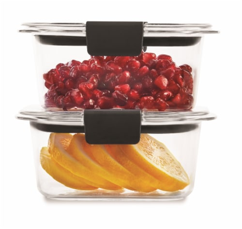 Rubbermaid Brilliance Small Food Containers - Clear Perspective: top