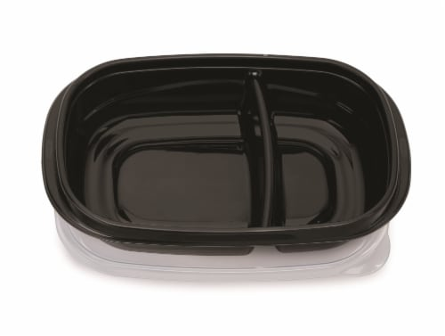 Rubbermaid Take Alongs Meal Prep Containers with Lids - Black/Clear Perspective: top