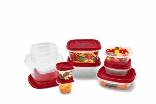 Rubbermaid Easy Find Lids Food Storage Containers Set Perspective: top