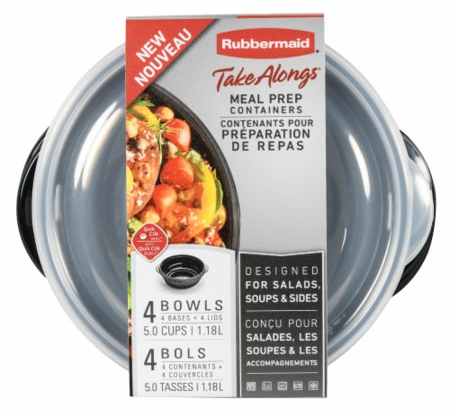 Rubbermaid Take Alongs Meal Prep Containers 4 Pack Perspective: top