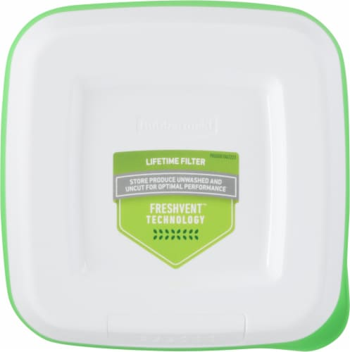 Rubbermaid® FreshWorks™ Medium Green Produce Saver Container Perspective: top