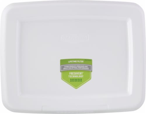 Rubbermaid® Freshworks™ Large Green Produce Saver Container Perspective: top