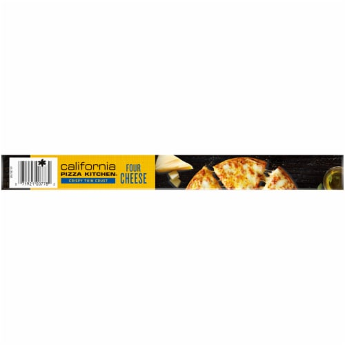 California Pizza Kitchen Four Cheese Crispy Thin Crust Pizza Perspective: top