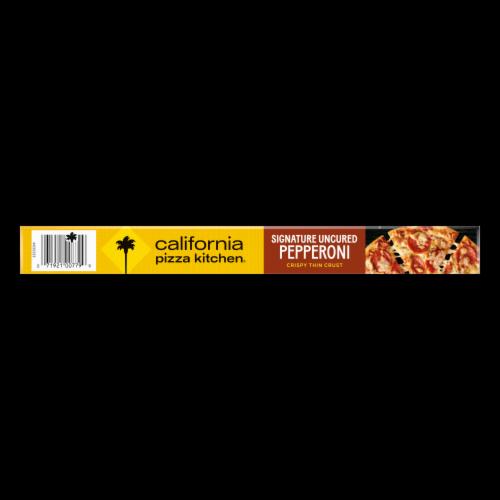 California Pizza Kitchen Signature Uncured Pepperoni Frozen Pizza with Crispy Thin Crust Perspective: top