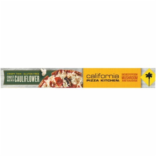 California Pizza Kitchen® Uncured Pepperoni Mushroom & Sausage Pizza with Cauliflower Pizza Crust Perspective: top