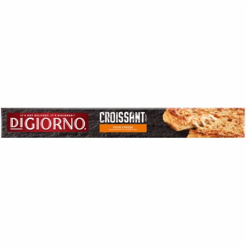 DIGIORNO Four Cheese Frozen Pizza on a Croissant Crust Perspective: top