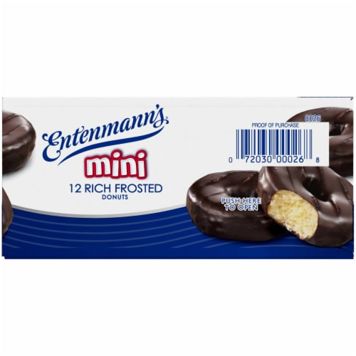 Entenmann's Rich Frosted Mini Donuts Perspective: top