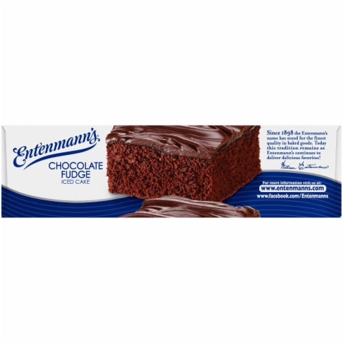 Entenmann's Chocolate Fudge Iced Cake Perspective: top