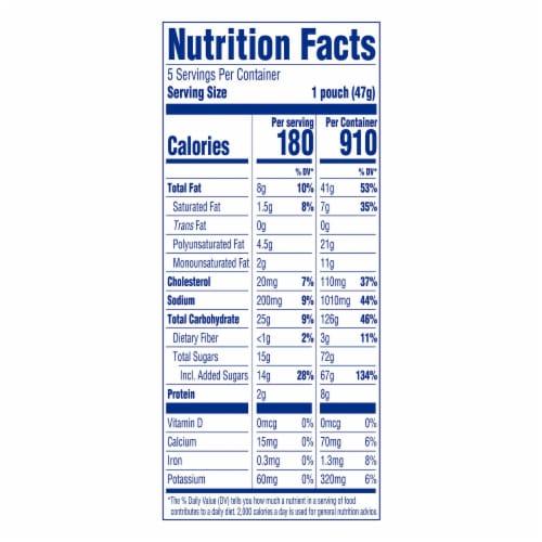 Entenmann's Little Bites Blueberry Mini Muffins Pouches Perspective: top