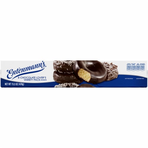 Entenmann's Chocolate Lover's Variety Pack Donuts Perspective: top