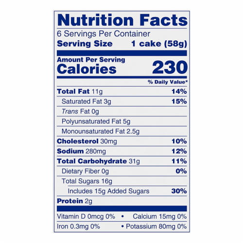 Entenmann's Minis Crumb Cakes Perspective: top