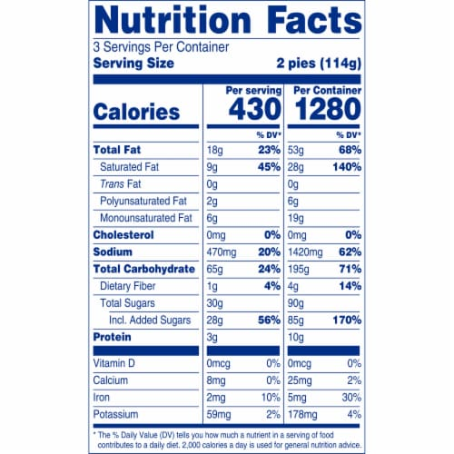Entenmann's Mini Cherry Snack Pies Perspective: top