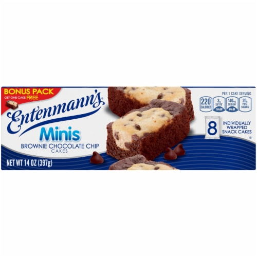 Entenmann's® Minis Brownie Chocolate Chip Snack Cakes Perspective: top