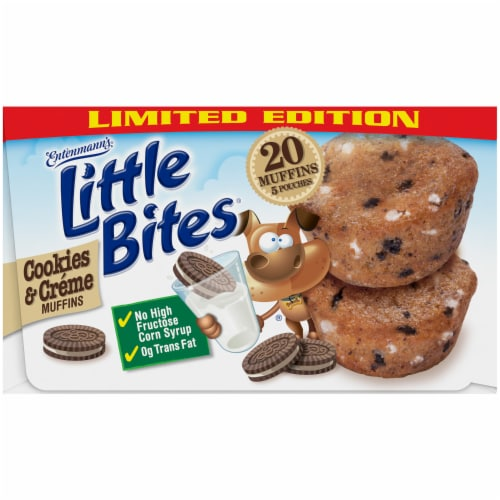 Entenmann's® Little Bites® Limited Edition Cookies & Creme Mini Muffins Perspective: top