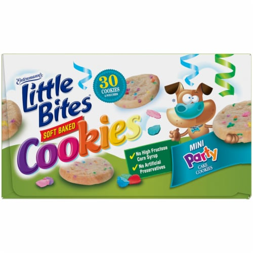 Entenmann's® Little Bites® Soft Baked Mini Party Cake Cookies Perspective: top