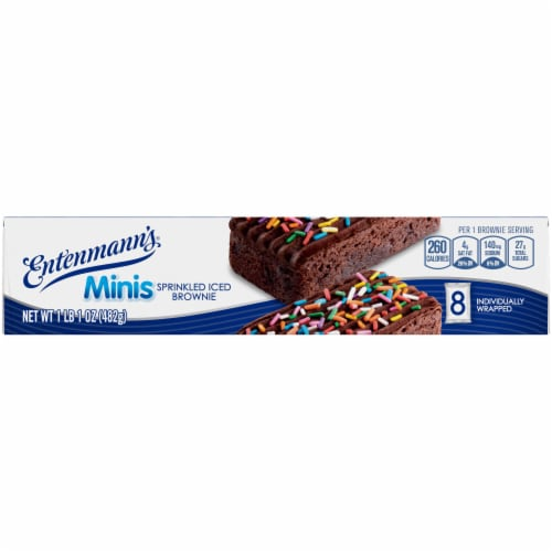 Entenmann's® Minis Sprinkled Iced Brownies Perspective: top