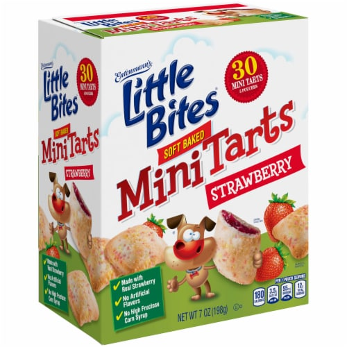 Entenmann's® Little Bites® Strawberry Soft Baked Mini Tarts Perspective: top