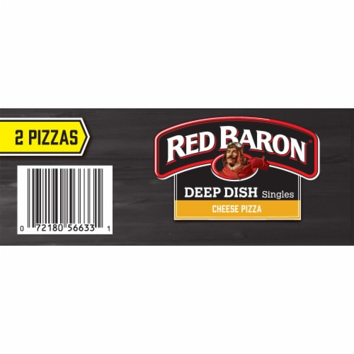 Red Baron Singles Deep Dish Cheese Pizzas Perspective: top