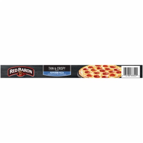 Red Baron Thin & Crispy Crust Pepperoni Pizza Perspective: top