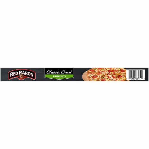 Red Baron Classic Crust Supreme Pizza Perspective: top