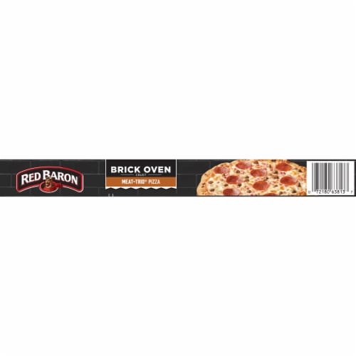 Red Baron Brick Oven Crust Meat-Trio Pizza Perspective: top