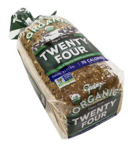 Franz Rogue River Organic Twenty-Four Thin Sliced Bread Perspective: top