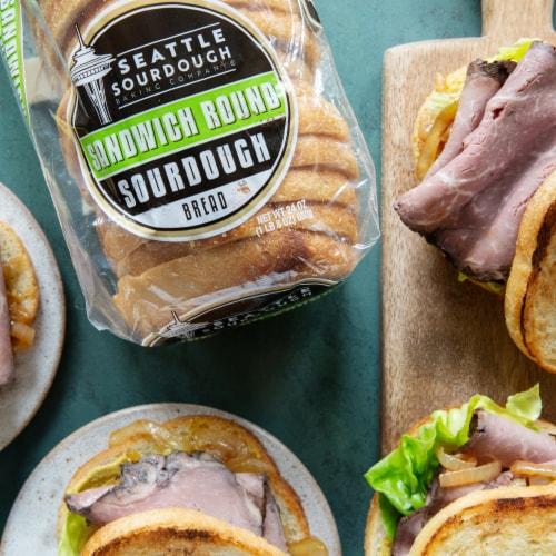 Seattle Sourdough Baking Co. Sandwich Round Sourdough Bread Perspective: top