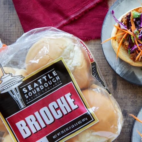 Seattle Sourdough Backing Company Brioche Hamburger Bun Perspective: top