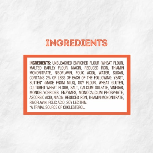 Nature's Own® Butter Hot Dog Buns Perspective: top