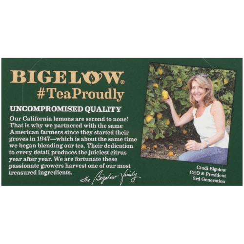Bigelow Green Tea with Lemon Tea Perspective: top