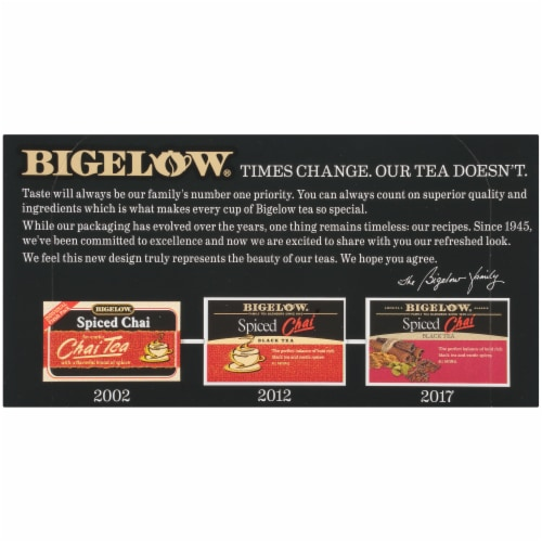 Bigelow Spiced Chai Black Tea Perspective: top