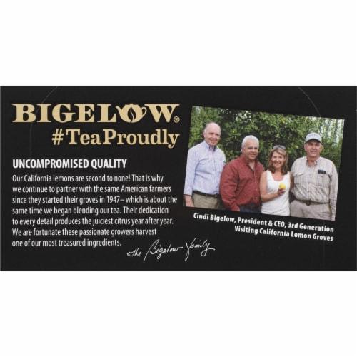 Bigelow Lemon Lift Tea Bags Perspective: top