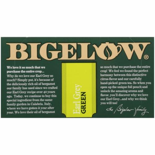 Bigelow Earl Grey Green Tea Perspective: top