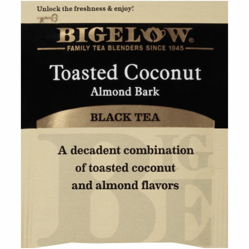 Bigelow Toasted Coconut Almond Bark Black Tea Perspective: top