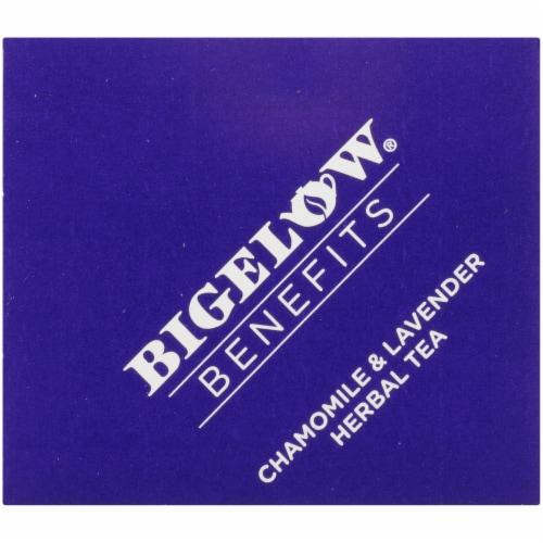 Bigelow® Benefits Sleep Chamomile & Lavender Herbal Tea Bags Perspective: top