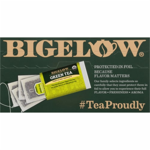 Bigelow Organic Green Tea Bags Perspective: top