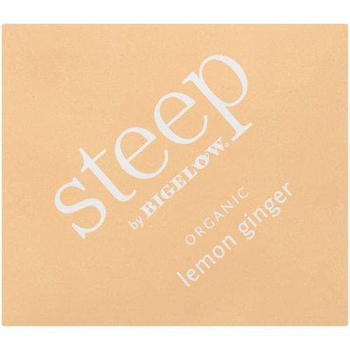 Bigelow Steep Organic Lemon Ginger Herbal Tea Perspective: top