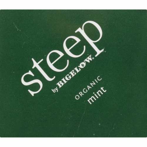 Bigelow Steep Organic Mint Herbal Tea Perspective: top