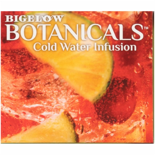 Bigelow Botanicals Cold Water Infusion Cranberry Lime Honeysuckle Herbal Tea Bags Perspective: top