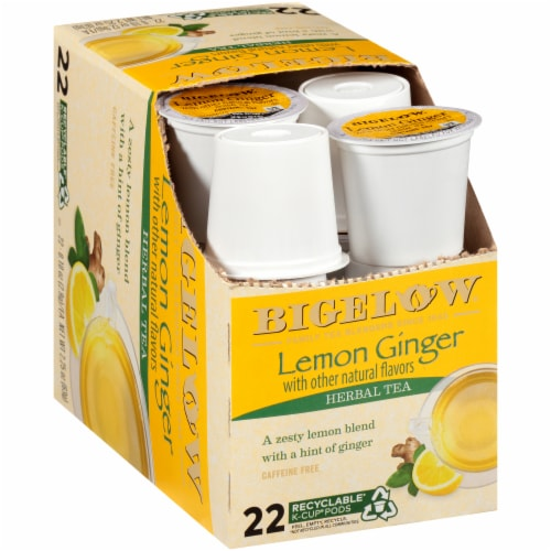 Bigelow Lemon Ginger Herbal Tea K-Cup Pods Perspective: top