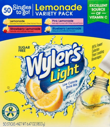 Wyler's Light Singles Drink Mix To Go Variety Pack Perspective: top