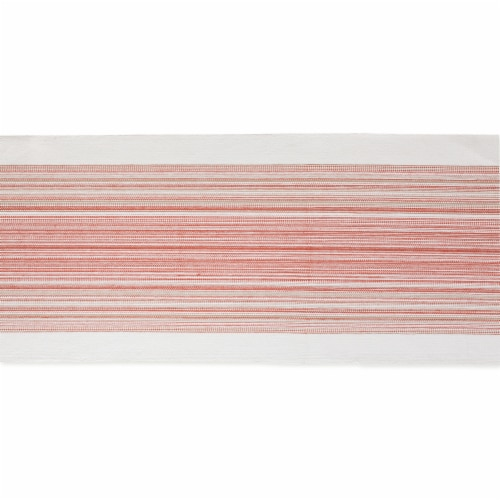 Design Imports CAMZ11697 14 x 72 in. Pimento Striped Fringed Table Runner Perspective: top