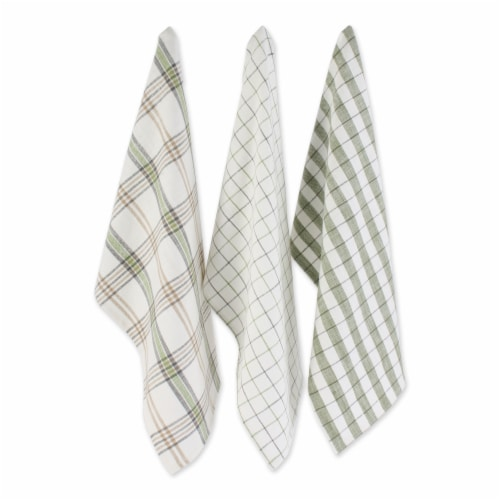 Dii Fresh Herbs Kitchen Textiles, Dishtowels & Dishcloths, Green House, 6 Pieces Perspective: top
