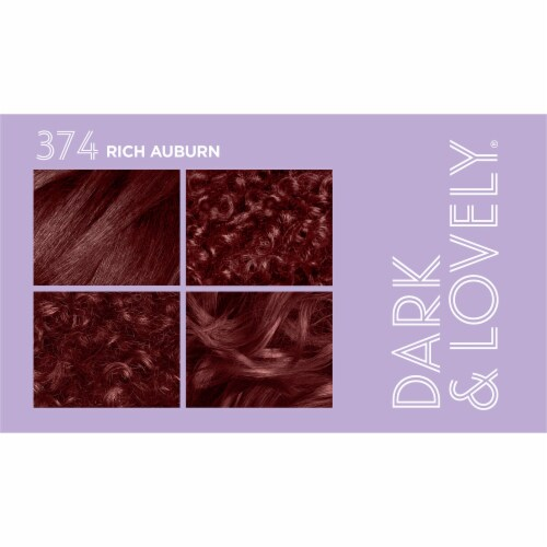 Dark & Lovely 374 Rich Auburn Fade Resist Hair Color Perspective: top