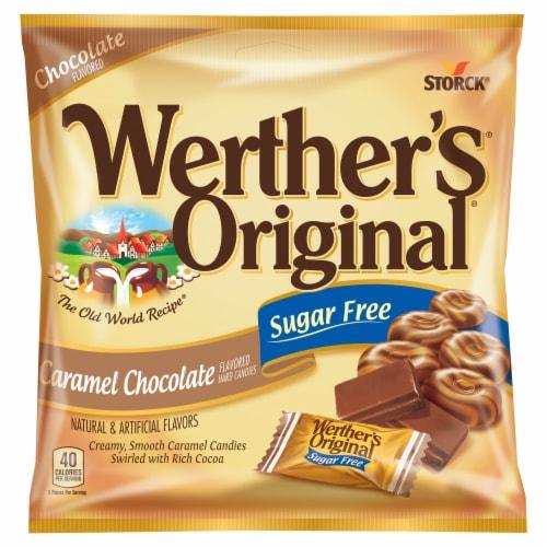 Werther's Original Sugar Free Chocolate Caramel Hard Candies Perspective: top