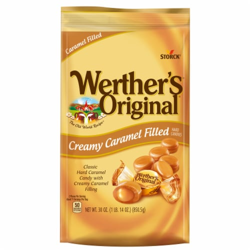 Werther's Original Creamy Caramel Filled Hard Candies Perspective: top