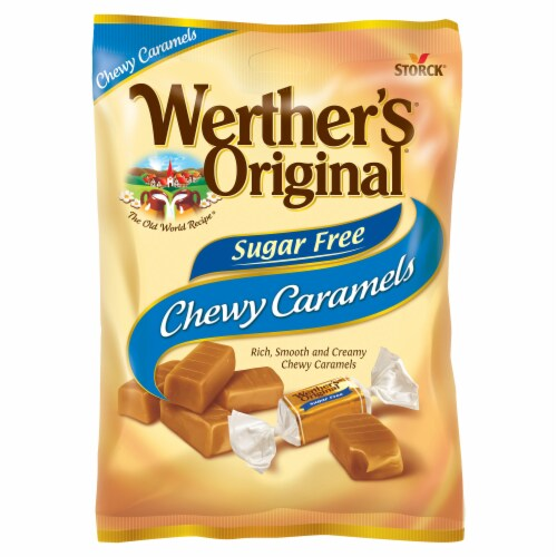 Werther's Original Sugar Free Chewy Caramel Candies Perspective: top